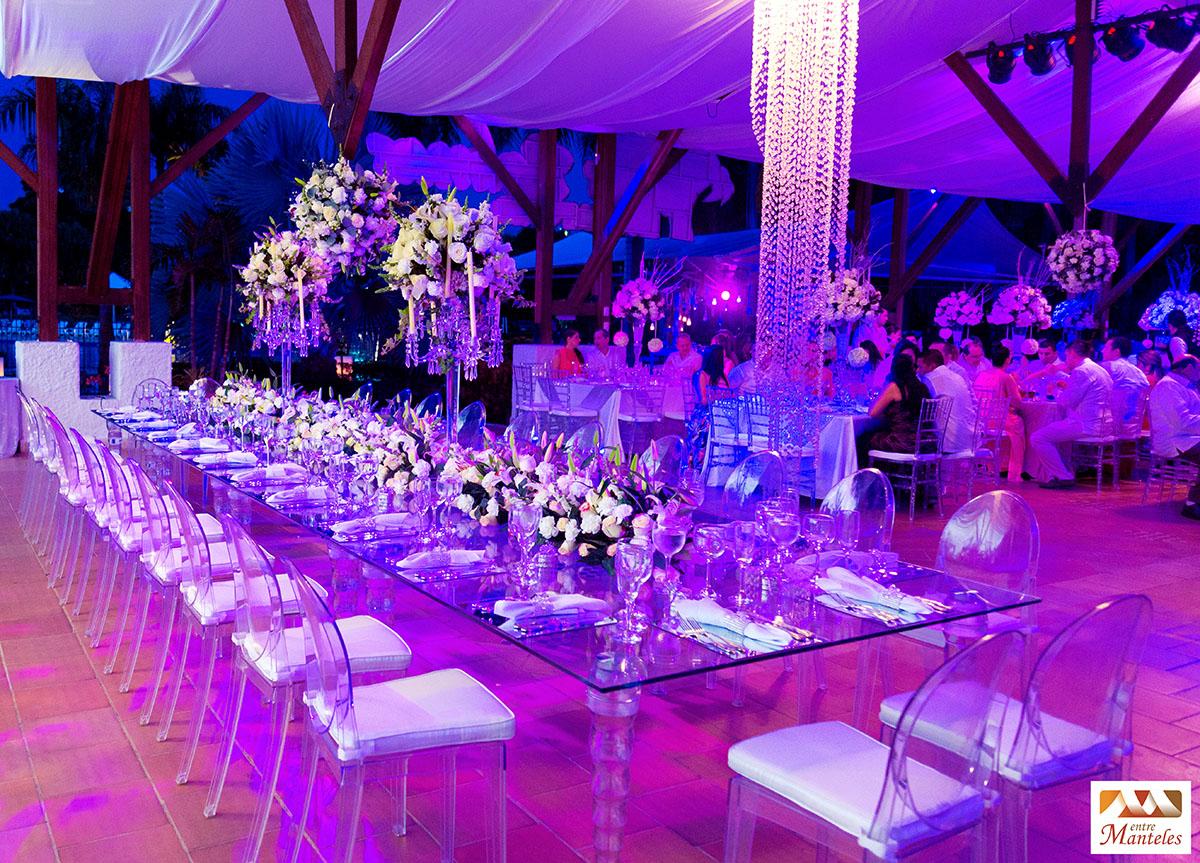 Boda de cristalina bodas en cali decoraci n de bodas - Decoracion de mesas para fiestas ...