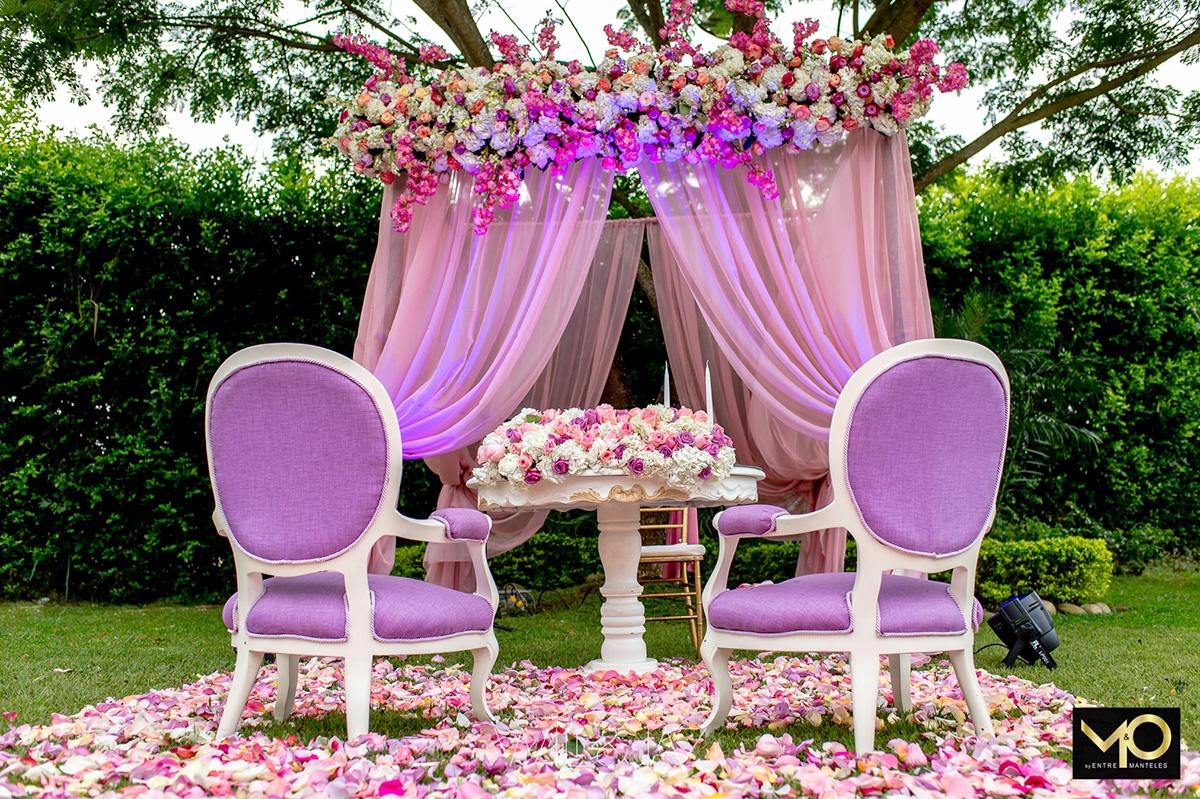 jup rosa para la decoraci n de bodas entremanteles